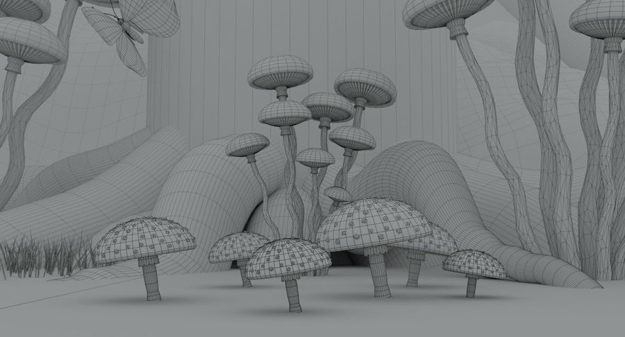 fantasy-forest royalty-free 3d model - Preview no. 13