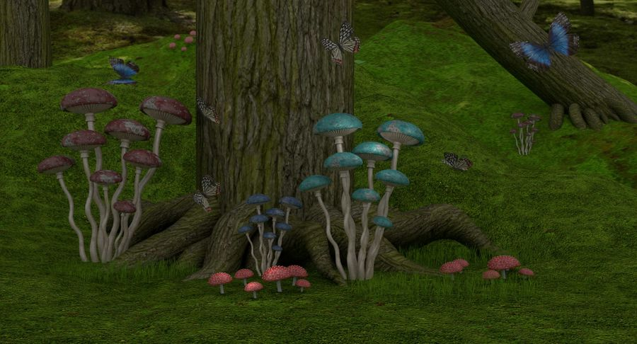 fantasy-forest royalty-free 3d model - Preview no. 1