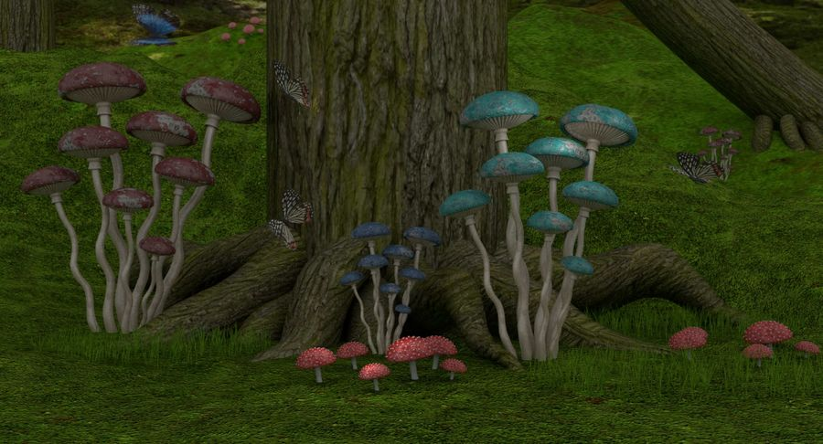 fantasy-forest royalty-free 3d model - Preview no. 2