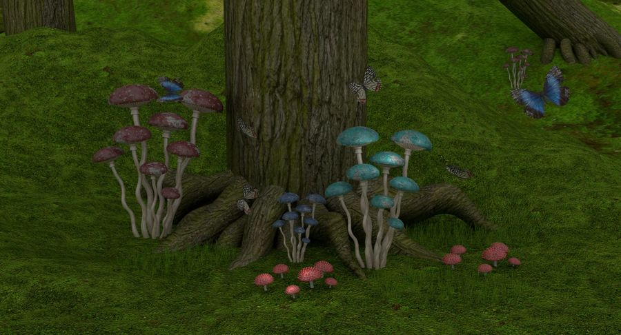 fantasy-forest royalty-free 3d model - Preview no. 3