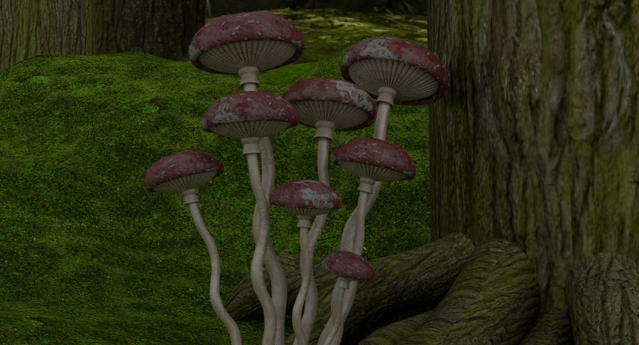 fantasy-forest royalty-free 3d model - Preview no. 6