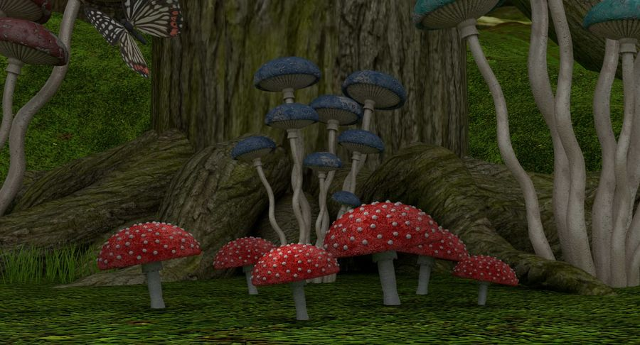 fantasy-forest royalty-free 3d model - Preview no. 7