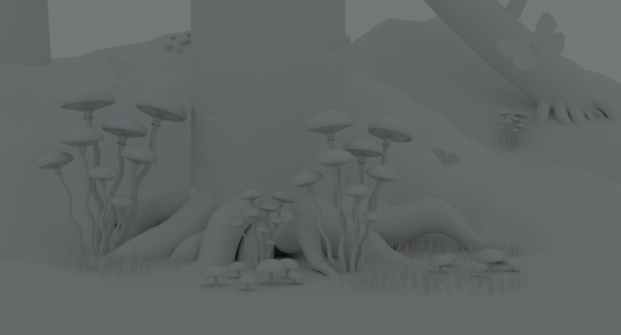 fantasy-forest royalty-free 3d model - Preview no. 11