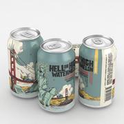 Lata de cerveja 21st alteração inferno ou melancia alta 12fl oz 3d model