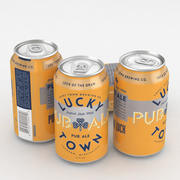 Beer Can Lucky Town Pub Ale 12fl oz 3d model