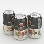 Beer Can New Belgium 1554 Czarny Lager 12fl oz 3d model
