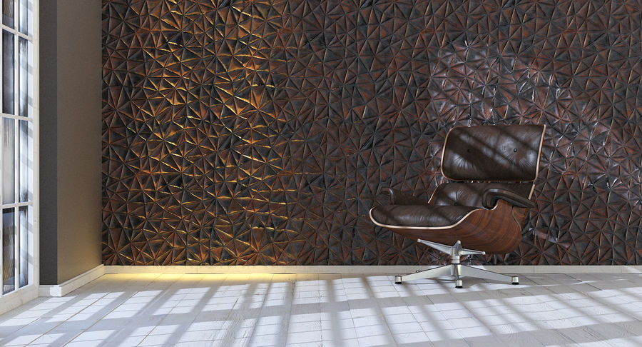 Wall Panel Crush Flat royalty-free 3d model - Preview no. 12