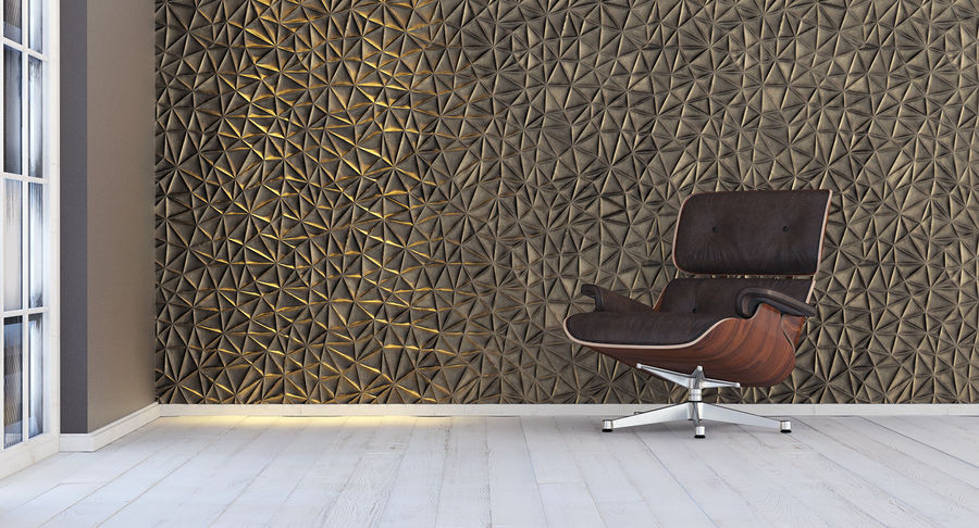 Wall Panel Crush Flat royalty-free 3d model - Preview no. 13