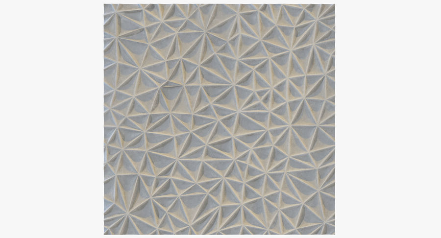 Wall Panel Crush Flat royalty-free 3d model - Preview no. 2