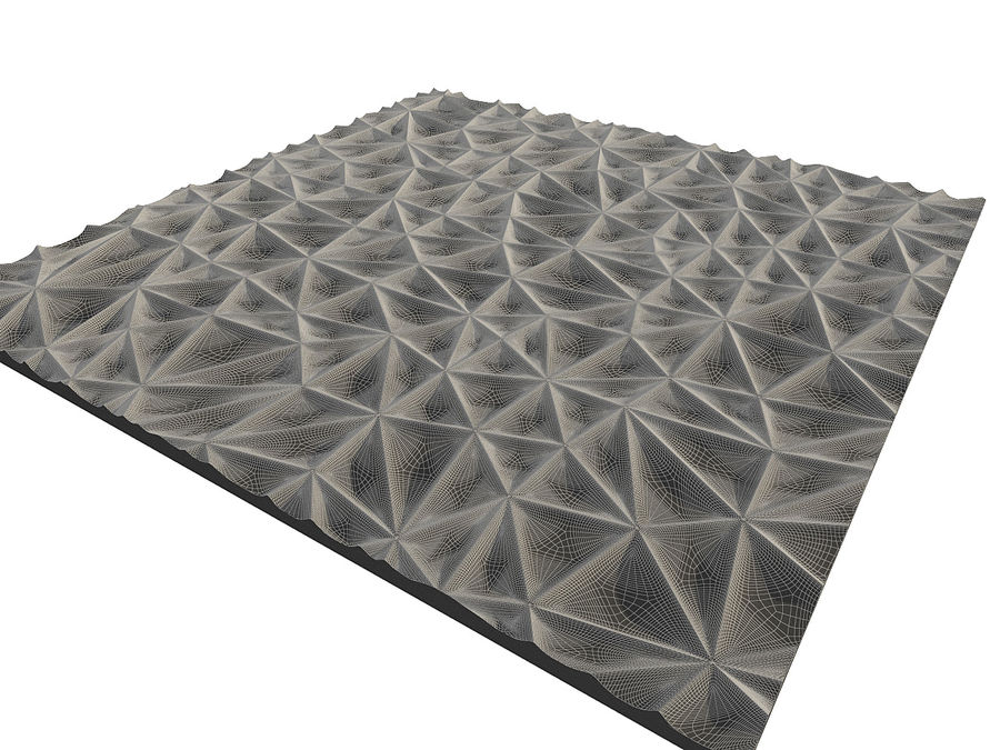 Wall Panel Crush Flat royalty-free 3d model - Preview no. 15