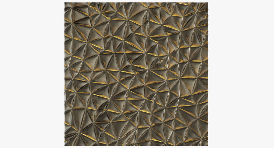 Wall Panel Crush Flat royalty-free 3d model - Preview no. 4