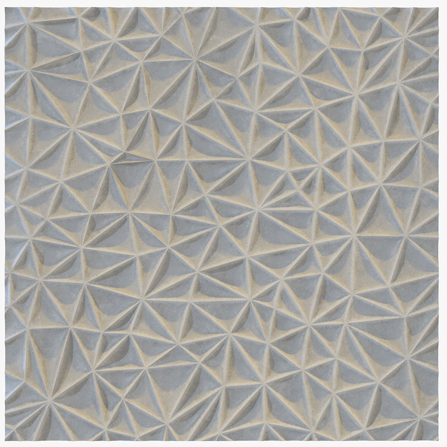 Wall Panel Crush Flat royalty-free 3d model - Preview no. 1