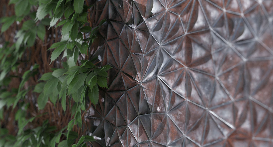 Wall Panel Crush Flat royalty-free 3d model - Preview no. 10
