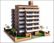 Apartment Building V2 3d model