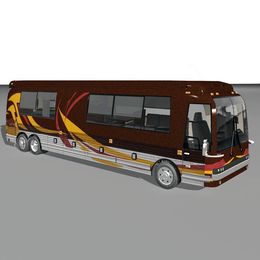 Luxury Motorhome Bus Coversion royalty-free 3d model - Preview no. 2