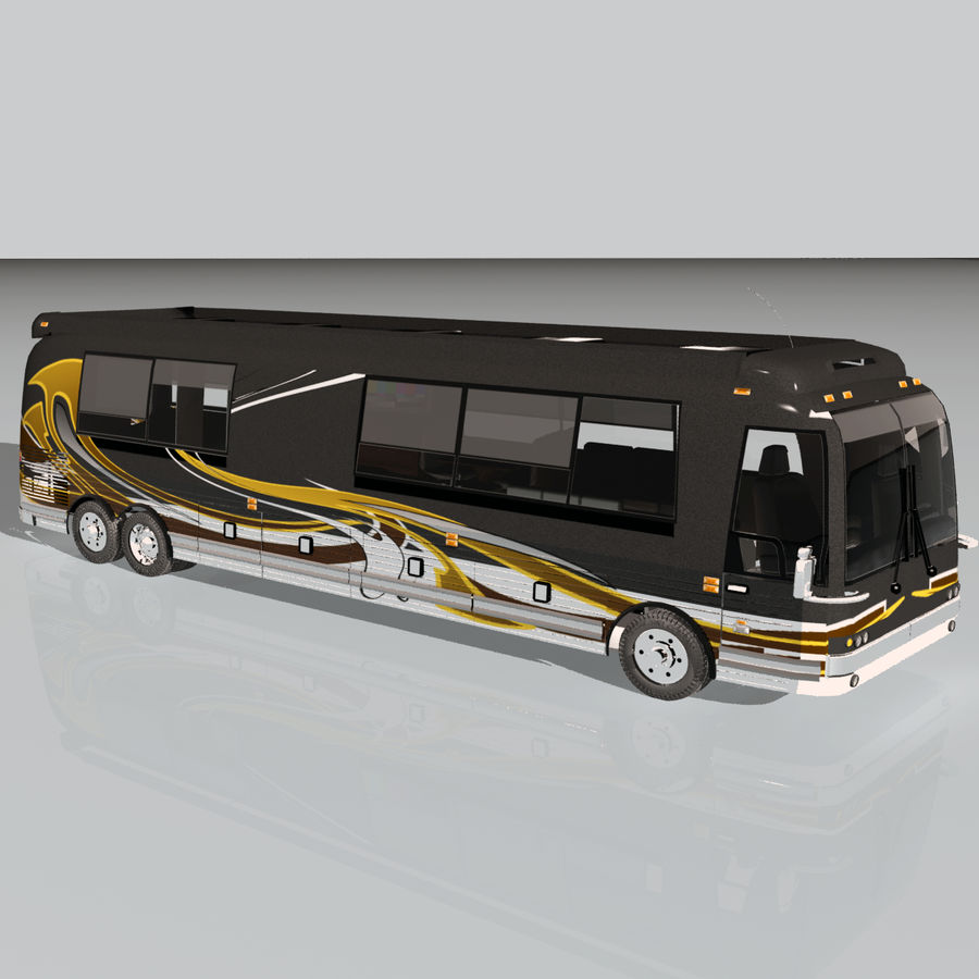 Luxury Motorhome Bus Coversion royalty-free 3d model - Preview no. 8