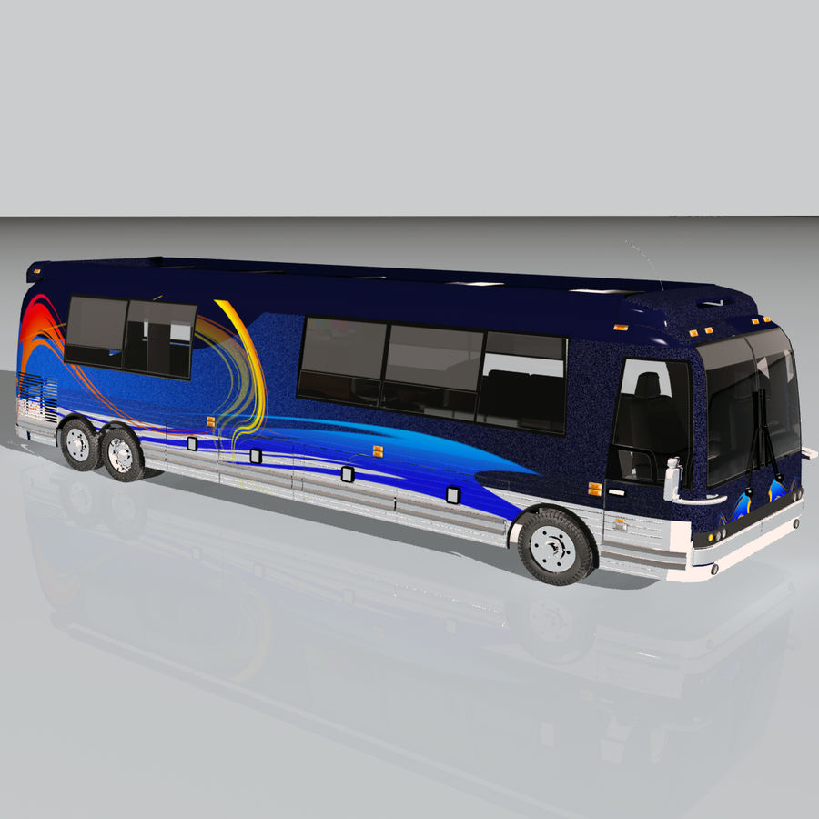 Luxury Motorhome Bus Coversion royalty-free 3d model - Preview no. 5