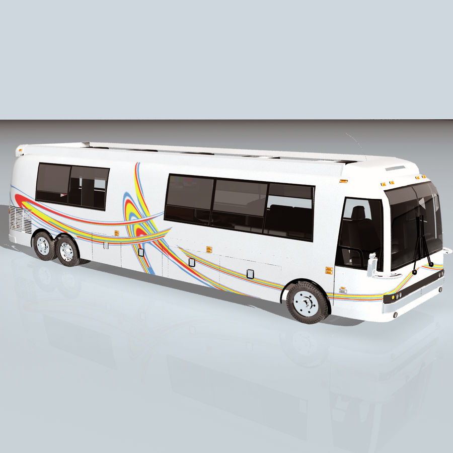 Luxury Motorhome Bus Coversion royalty-free 3d model - Preview no. 13