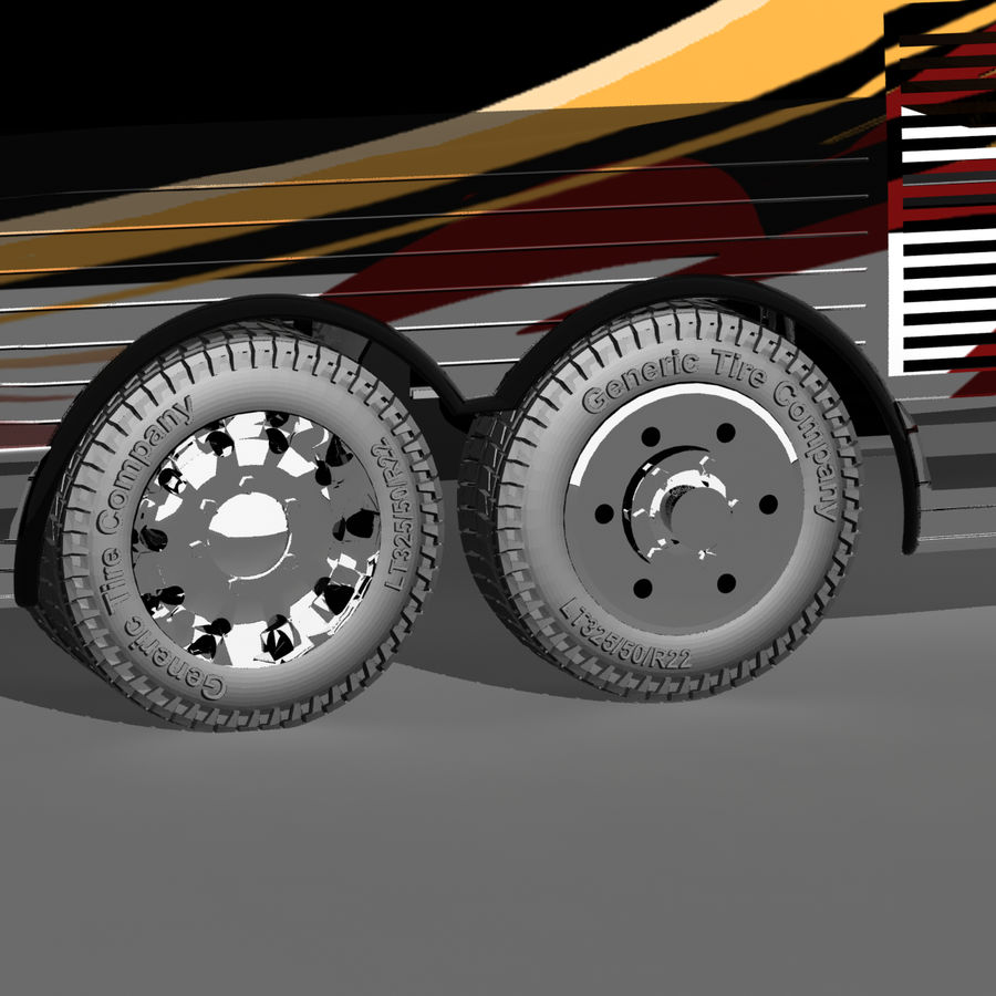 Luxury Motorhome Bus Coversion royalty-free 3d model - Preview no. 19