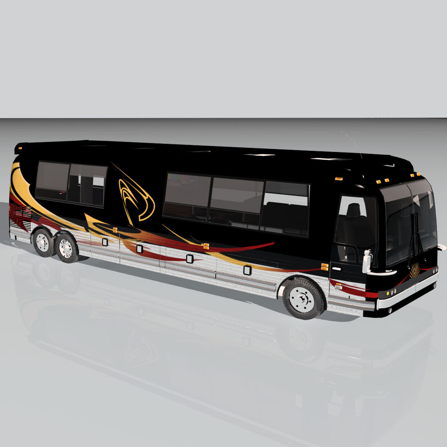 Luxury Motorhome Bus Coversion royalty-free 3d model - Preview no. 7