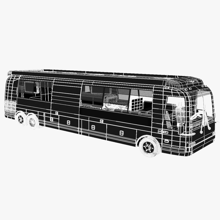 Luxury Motorhome Bus Coversion royalty-free 3d model - Preview no. 16