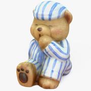 Ornamento do urso de peluche 3d model