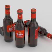 Ölflaska Estrella Damm Barcelona 330ml 3d model