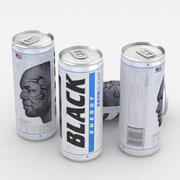 Beverage Can Black Energy Zero Sugar 250ml 3d model
