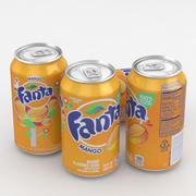 Beverage Can Fanta Mango 12fl oz 3d model