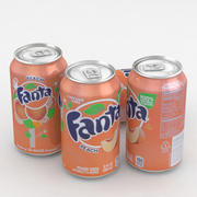 Beverage Can Fanta Peach 12fl oz 3d model