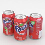 Beverage Can Fanta Strawberry 12fl oz 3d model