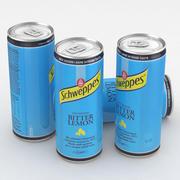 Beverage Can Schweppes Bitter lemon 330ml Tall 2017 3d model