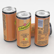 Beverage Can Schweppes Citrus Mix 330ml Tall 3d model