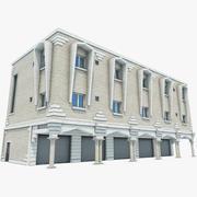 Edificio de tienda árabe modelo 3d