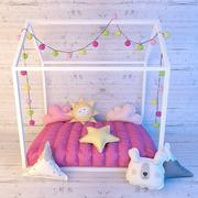 This Little Love Bed 3d model