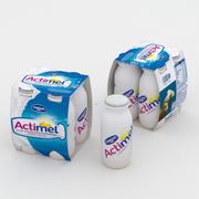 Confezione da 4 pezzi Actimel 3d model