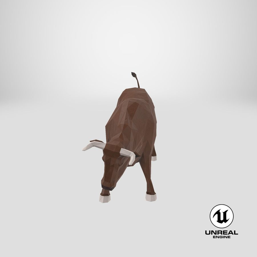 Bull Brown opladen royalty-free 3d model - Preview no. 1