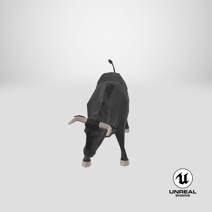 Bull Black opladen royalty-free 3d model - Preview no. 24