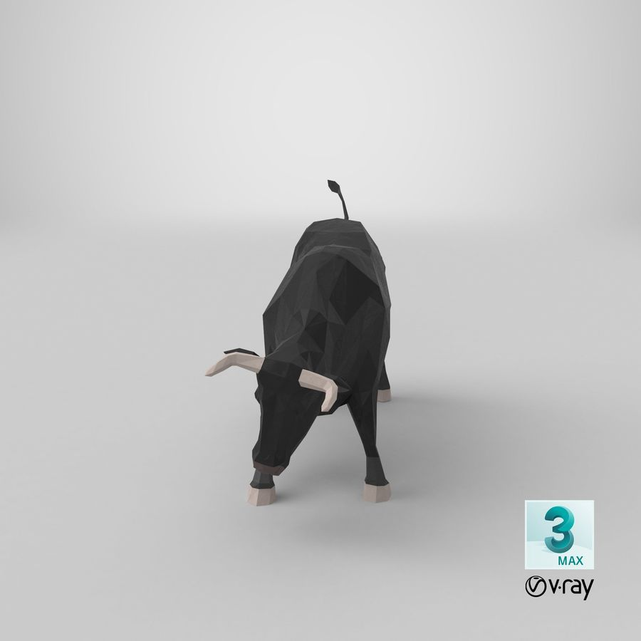 Bull Black opladen royalty-free 3d model - Preview no. 21