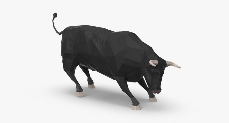 Bull Black opladen royalty-free 3d model - Preview no. 2