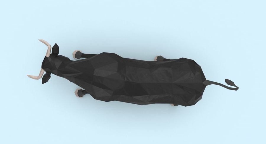 Bull Black opladen royalty-free 3d model - Preview no. 5