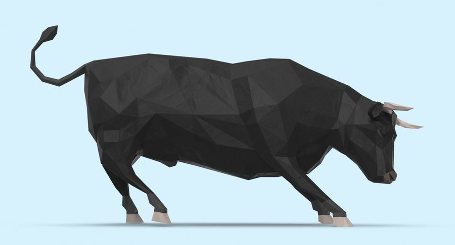 Bull Black opladen royalty-free 3d model - Preview no. 7