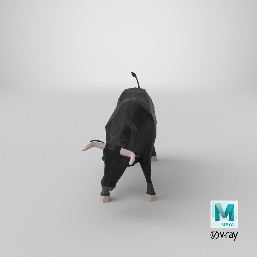 Bull Black opladen royalty-free 3d model - Preview no. 19