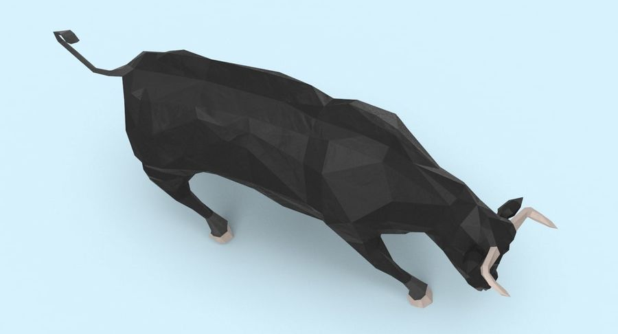 Bull Black opladen royalty-free 3d model - Preview no. 8