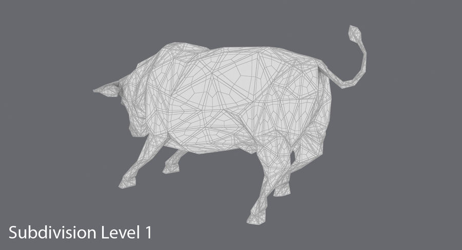 Bull Black opladen royalty-free 3d model - Preview no. 17