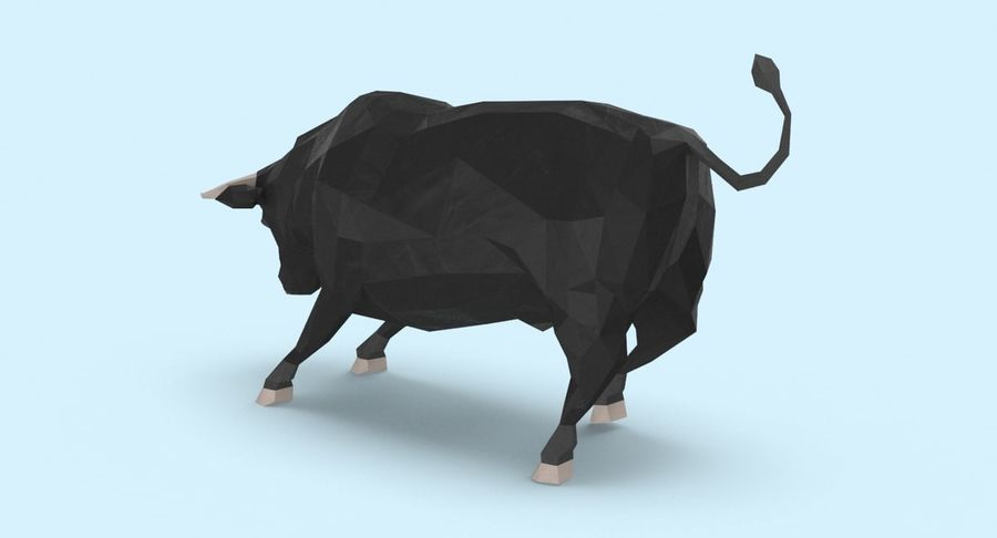 Bull Black opladen royalty-free 3d model - Preview no. 6