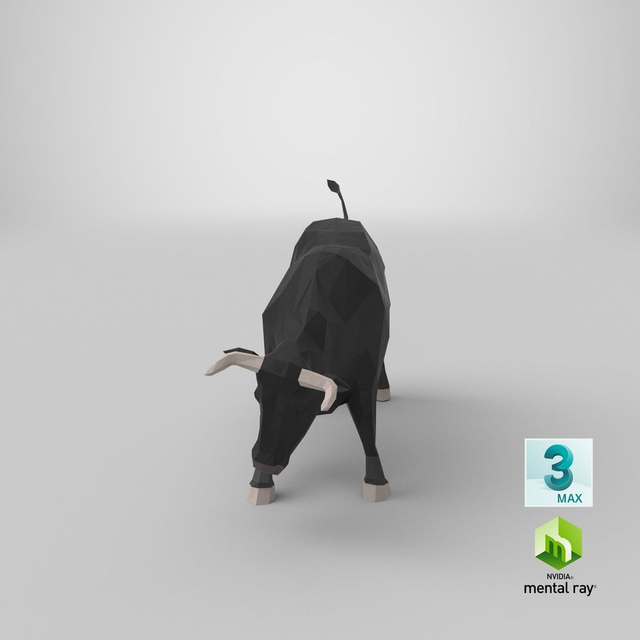 Bull Black opladen royalty-free 3d model - Preview no. 20