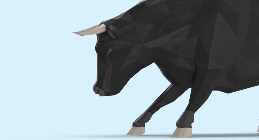 Bull Black opladen royalty-free 3d model - Preview no. 9