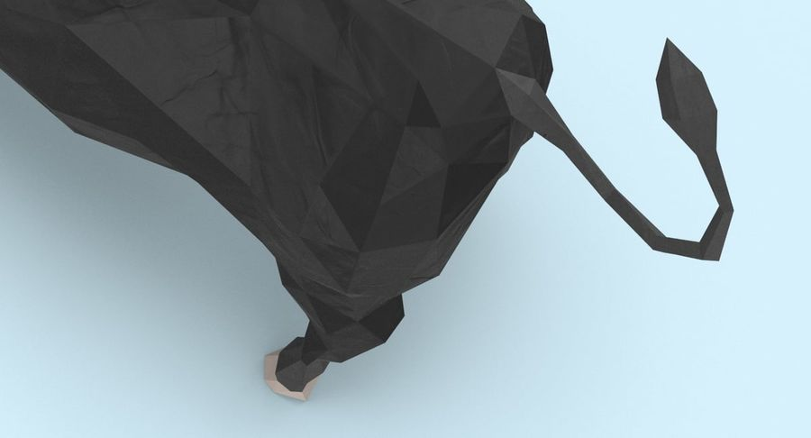 Bull Black opladen royalty-free 3d model - Preview no. 10