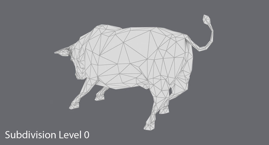 Bull Black opladen royalty-free 3d model - Preview no. 14